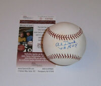 BRAVES Al Dark signed baseball w/ '48 ROY JSA COA AUTO Autographed Boston Milwau