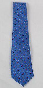 Polo Ralph Lauren Blue Label Blue Italy Silk Neck Tie