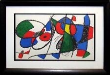 Joan Miro II #VIII 1972 Original Art Lithograph Custom Framed Artwork MAKE OFFER