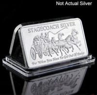 Stagecoach Fine .999 1 Troy Oz Silver Bullion for Collection Decoration Gift Pop