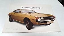 1974 TOYOTA CELICA UK  Sales  Brochure  VERY RARE