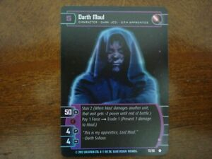 Star Wars TCG SR Darth Maul (D) FOIL 72/90