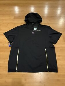 New Nike University of Washington Football Player Issue Warm Up Pullover Size XL