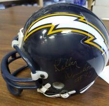 Kellen Winslow Signed Auto San Diego Chargers Riddell Mini Helmet JSA COA