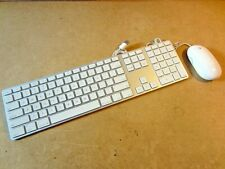 APPLE Wired Keyboard A1243 & Mighty Mouse A1152 Set NICE [MB110LL/A & MA086LL/A]