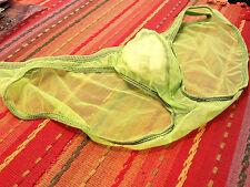 3G Men's Sexy Green Mesh Bikini Brief - Pouch - Poly/Spandex - Size L/US36 NWOT