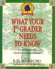 WHAT YOUR 1ST GRADER NEEDS TO KNOW Hirsch hc/dj Homeschool Teacher Resource