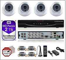 8CH 1080P 2MP 5in1 DVR 2MP AHD CCTV Security Camera System DIY Kit 2TB WD HDD