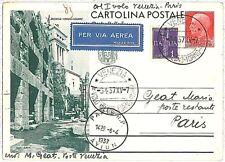 ITALIA storia postale PRIMI VOLI - cat  SASSONE 453c: VENEZIA /  MILANO / PARIGI