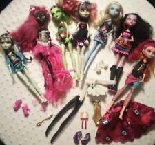 Monster High Dolls Lot With Clothes And Shoes!