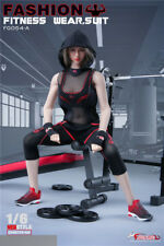 1/6 Fire Girl Toys FG054A Female Fitness Wear Suit Black Sport Clothes Set