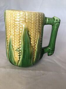 """Antique Majolica Corn Mug 5.75 """" #46"""