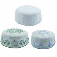 50pcs Muslim Cap Hat Men's Prayer Kufi  Beanie Embroidered Islamic Topi Gift