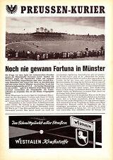 Programm   1961-1962   Preußen Münster v Fortuna Düsseldorf   Oberliga West