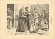 1873 Antiguo Print-Londres bocetos búsqueda anticipada de la cena del domingo