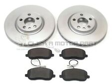 PEUGEOT EXPERT & TEPEE 1.6 HDi MK2 07-16 FRONT 2 BRAKE DISCS & PADS CHECK SIZE