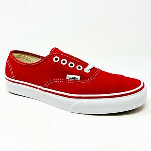 Vans Authentic Red White Classic Casual Skate Mens Sneakers