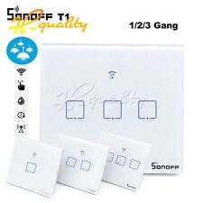 Sonoff 1/2/3 Gang inteligente Wi-Fi Reino Unido panel táctil de pared de luz interruptor de control remoto