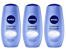 (14,72€/L) 3x 250ml Nivea Creme Smooth Dusche Shea Butter Sanfter Duft Pflege