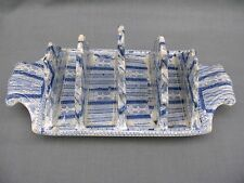 Rare and unusual 19th Century Transfer printed Blue and White Toast Rack