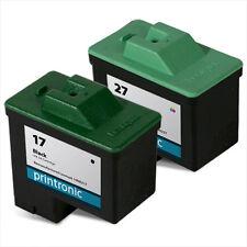 1 Black 1 Color Ink Cartridges For Lexmark 17 27 X1270