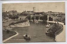 (w14c90-345) Boating Lake, SKEGNESS 1937 Postally Used VG Stamp Removed