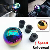 Car Aluminum Ball Style 5Speed Manual Gear Stick Shift Knob Lever Shifter Colour