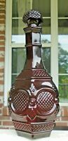 """Beautiful 1876 Avon Cape Cod Collection Ruby Red # 7 Decanter 9.25"""" Tall Empty"""