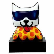 ROMERO BRITTO LA CAT SCULPTURE ** NEW ** MADE IN GERMANY
