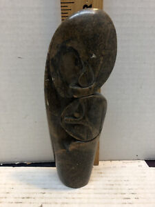 African Soapstone Carved Mother & Child Sculpture (Shona?)