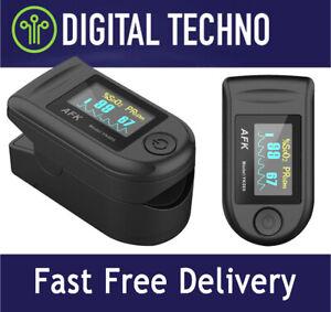 Digital Fingertip Pulse SpO2 Oximeter - Measures Blood Oxygen Level & Heart Rate