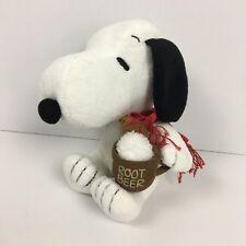 Peanuts Snoopy Hallmark WWI Flying Ace Plush Root Beer Mug Scarf Cap Tags