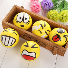 1Pc Emoji Foam Sponge Toys Soft Ball Outdoor Sports Child Kids Toys Elastic Ball