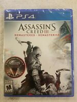 Assassin's Creed III 3 Remastered PS4 Sony PlayStation 4 - NEW FREE S/H