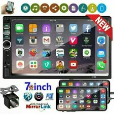 """New Listing7"""" Double 2 Din Touch Screen Car Stereo Radio Bluetooth Usb Aux In Mp5 + Camera"""