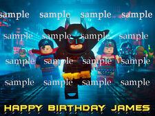 BATMAN Edible Icing Image Decoration Photo CAKE Topper Frosting Sheet Lego Movie