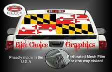 Maryland Flag Rear Window Graphic Decal Sticker Truck Car SUV