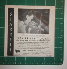 1945 Starrett Tools Company Advertisement Athol, Mass.