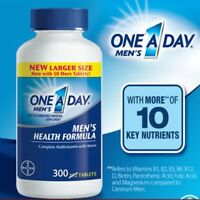 One A Day Men's Multivitamin 300 Tablets Complete Vitamin Lycopene BAYER Health