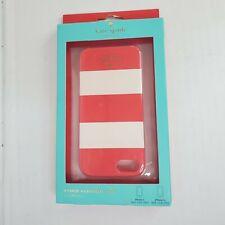Kate Spade Hybrid Hardshell Phone Case For iPhone 5 & iPhone 5s Red White NIB