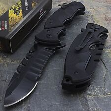 "MTECH USA 9.5"" G10 HANDLE EDC SPRING ASSISTED TACTICAL FOLDING POCKET KNIFE Open"