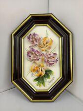 Capodimonte Porcellane Artistiche - Orange and Purple Lily Frame - Made in Italy