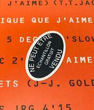 Vinyle + Rare Sticker PROMO JOHNNY HALLYDAY 33T Dans La Chaleur Bercy 1990