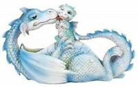 Lovely Dragon Mother with Baby Dragon Motherhood Family Resin Figurine