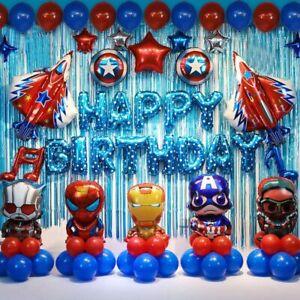 Super Hero Balloon Arch Garland Kit Happy Birthday Super Hero Party Balloon Set