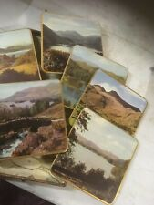 Set Of Vintage Lakeland Scene Place Mats In Box