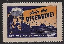 """Usa Poster stamp: Wwii Join the Offensive """"Get Into Action with the Navy""""-dw666a"""