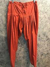 10 Indian Salwar Tapered Trousers One Size 8 12  Elephant Print Boho Red