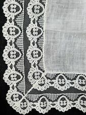 A12 Vintage Schiffli Lace Linen Hanky Hankies Bridal Wedding Floral Flower