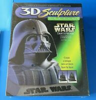 "1997 STAR WARS DARTH VADER 3D SCULPTURE PUZZLE ~ 9.5"" TALL ~ MILTON BRADLEY NEW"